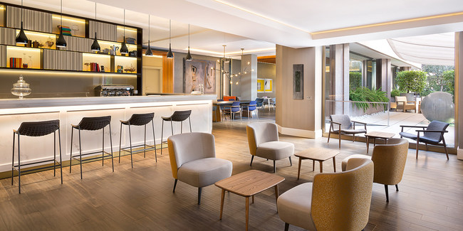 Le Méridien Visconti Rome celebrates its grand opening. The newly renovated hotel features the brand's innovative signature lobby concept: The Hub.