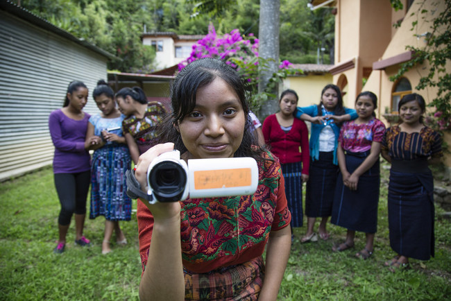 Girls' Voices empowers girls to be the narrators of their own story. Ana Maria, Girls' Voices participant in Panajachel, Guatemala.