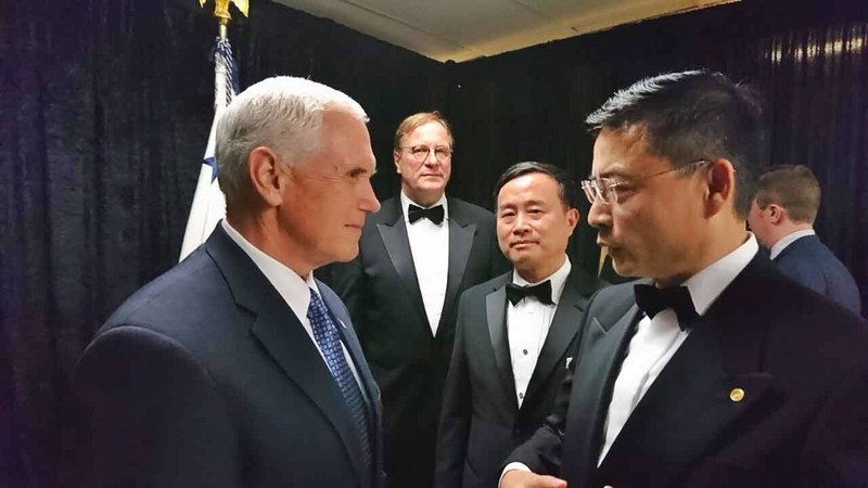Adam Tan, Vice Chairman and CEO of HNA Group, discussed with US Vice President Mike Pence on HNA Group's strategies for U.S. growth and commitment to creating jobs.