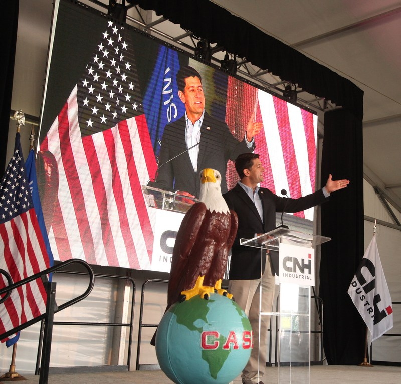 U.S. Speaker of the House Paul Ryan addresses the CASE 175th anniversary rally