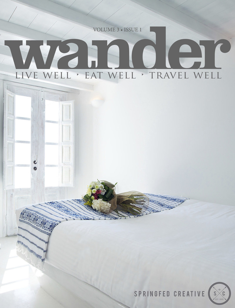 Wellness travel is not just about gorgeous retreats and relaxing spa treatments - though we feature both in this issue! It's also about staying healthy and well on the road, so you return to your home and your work feeling refreshed and rejuvenated. Intrigued? Get inspired to live, eat and travel well with the latest issue of Wander. (CNW Group/Wander Magazine)