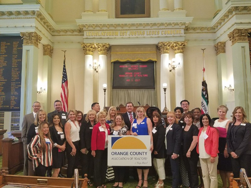 OCAR Leadership Academy with OCAR Staff and Assemblyman Brough at Legislative Day in Sacramento on May 3, 2017