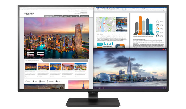 LG Electronics USA Business Solutions has added premium 4K UHD and In-Plane Switching (IPS) commercial monitors to its already-broad portfolio of cutting-edge desktop monitors. Led by the brand new 43-inch 4K UHD monitor, which will be demonstrated at InfoComm 2017, the new displays provide users the high-end picture quality and flexibility needed to maximize productivity and ease of use.