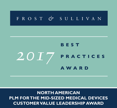 Based on its recent analysis of the product lifecycle management (PLM) market for the mid-sized medical devices industry, Frost & Sullivan recognizes Omnify Software with the 2017 North American Customer Value Leadership Award.