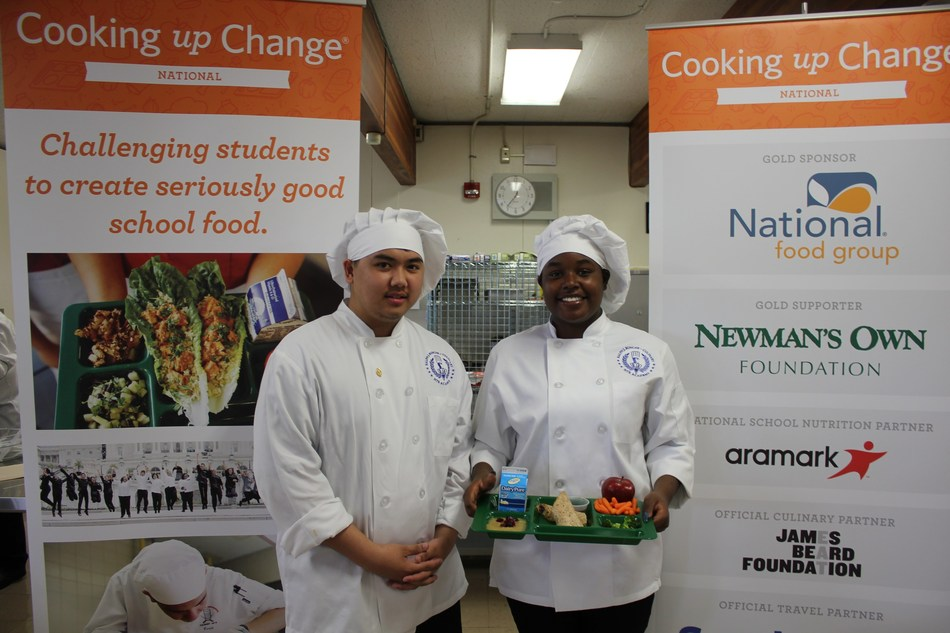 High school students from across the country will compete June 12 in the 2017 Healthy Schools Campaign's Cooking up Change, a program that challenges culinary students to create healthy, great-tasting meals that meet the real-life requirements of the national school meal program. Aramark is the National School Nutrition Partner for Cooking up Change. Photo credit: Healthy Schools Campaign