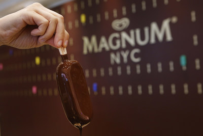 MAGNUM New York, the one-of-a-kind ice cream experience where guests can create custom MAGNUM bars, located at 875 Washington Street in the city's Meatpacking District. (Photo by Jason DeCrow for MAGNUM)