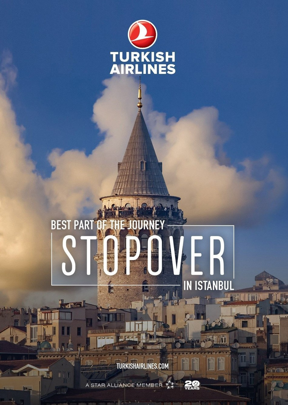 Transfer passengers now will have an opportunity to discover Istanbul, the seamless hub of the global carrier, through its new 'Stopover' service (PRNewsfoto/Turkish Airlines)