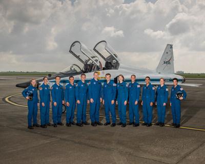 "NASA announced its 2017 Astronaut Candidate Class on June 7, 2017. The 12 candidates, pictured here at NASA's Ellington Field in Houston, are Zena Cardman, U.S. Marine Corps Maj. Jasmin Moghbeli, U.S. Navy Lt. Jonny Kim, U.S. Army Maj. Francisco ""Frank"" Rubio, U.S. Navy Lt. Cmdr. Matthew Dominick, Warren ""Woody"" Hoburg, Robb Kulin, U.S. Navy Lt. Kayla Barron, Bob Hines, U.S. Air Force Lt. Col. Raja Chari, Loral O'Hara and Jessica Watkins. Credit: NASA/Robert Markowitz"