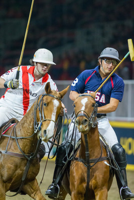 Teams from Canada and the USA will return to the 2017 Royal Horse Show to battle it out for the second annual Royal Polo Championship Cup on Thursday, November 9. Photo by Ben Radvanyi Photography (CNW Group/Royal Agricultural Winter Fair)