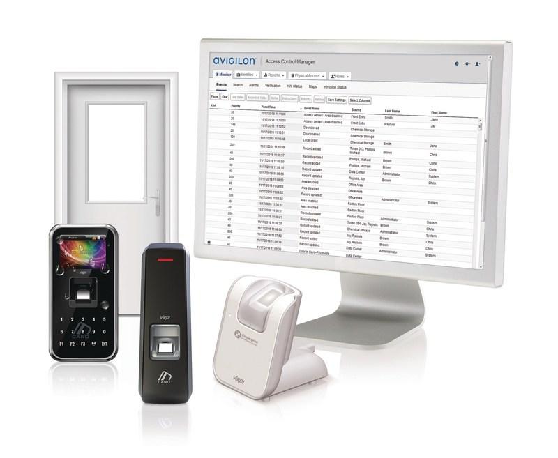Figure 1. The Avigilon Access Control Manager system integration with Virdi's fingerprint authentication technology. (CNW Group/Avigilon Corporation)