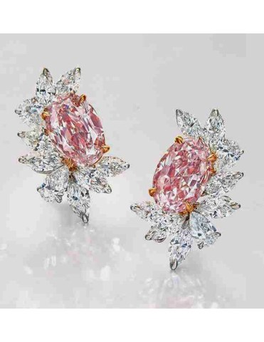 Pink Diamond Earrings (CNW Group/Paragon International Wealth Management Inc.)