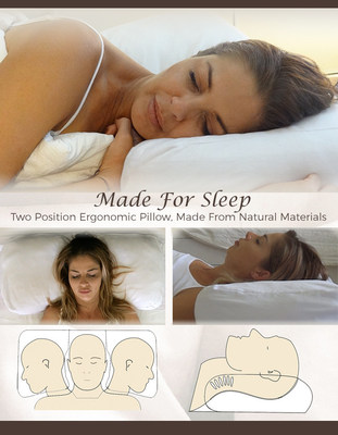 Made For Sleep: Fully Adjustable Back & Side Sleeping Pillow (PRNewsfoto/Made for Sleep)