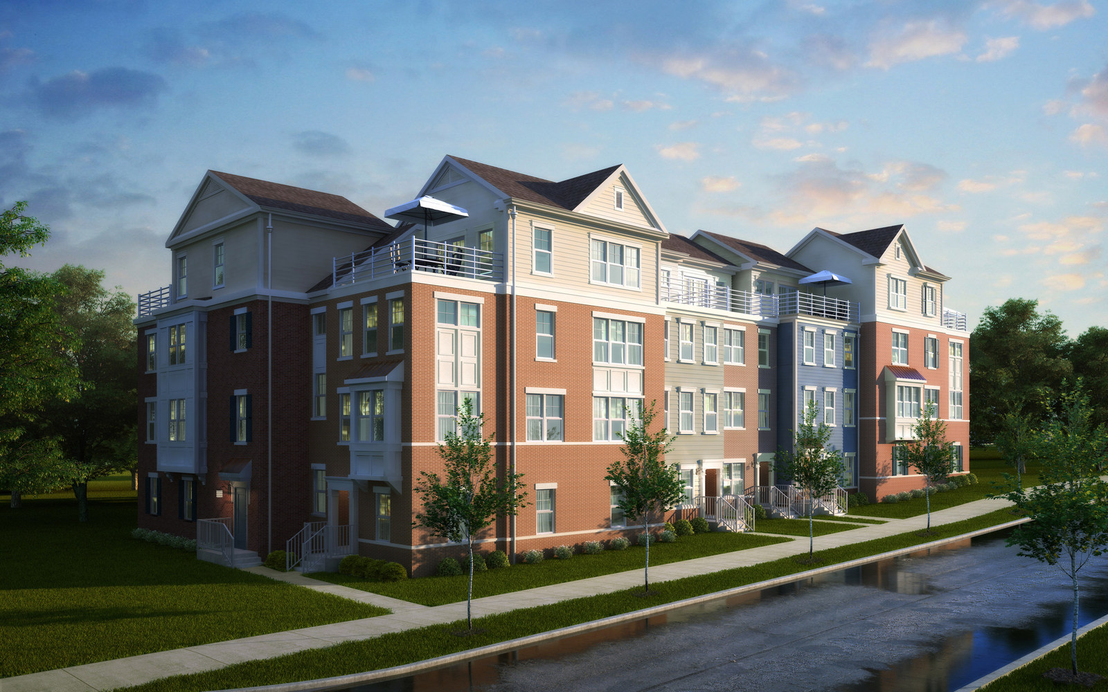 Winchester unveils maryland townhomes builder magazine for Winchester homes cabin branch townhomes