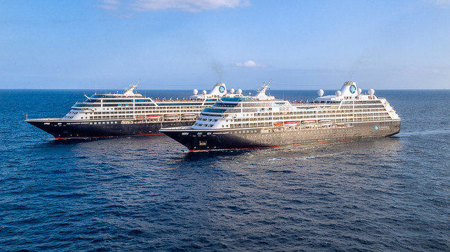 Azamara Journey and Azamara Quest United to Celebrate Best Friends Day With a Rare Meeting Together in Barcelona