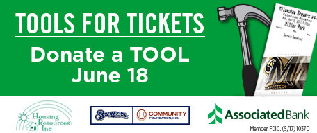 Tool Drive at Miller Park to support Housing Resources, Inc.