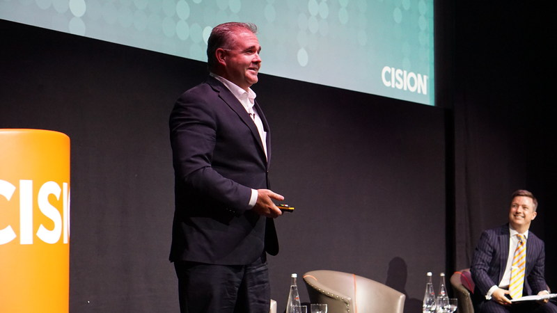 Cision CEO Kevin Akeroyd kicked off the event by discussing how the time is right for earned media - including PR and media relations - to take its rightful place in the marketing mix and get its rightful share of marketing budgets.