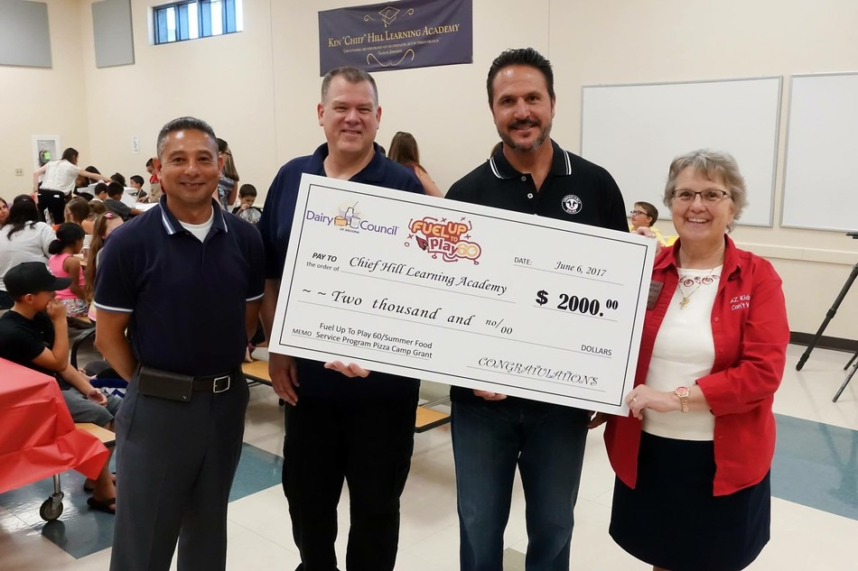 Chief Hill Learning Academy receiving a $2,000 grant for their summer feeding program, one of 23 schools to receive a grant. Arizona Milk Producers is giving nearly $50,000 worth of grants to summer feeding programs to help feed kids who may otherwise go hungry during the summer.