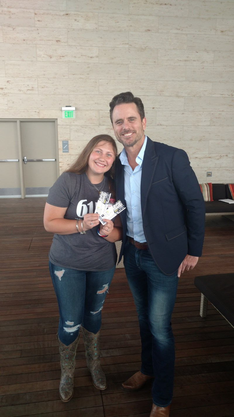 """Nashville"" star, Charles Esten, surprised 19-year-old blood cancer survivor, Jordan Smith of Nashville, TN with a sneak preview of Esten's rehearsal at the 2017 CMT Music Awards and tickets to the show, as part of The Leukemia & Lymphoma Society's #RandomActsofLight."