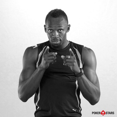 Usain Bolt, World's Fastest Man, to Bring Speed and Smarts to Poker in Partnership With PokerStars (PRNewsfoto/PokerStars)