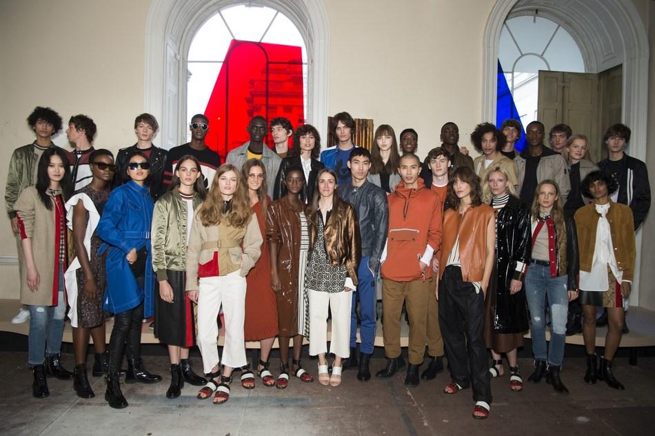 Belstaff Presents Men's and Women's Spring Summer 18 Collections during London Fashion Week Men's, by Creative Director Delphine Ninous (PRNewsfoto/Belstaf)