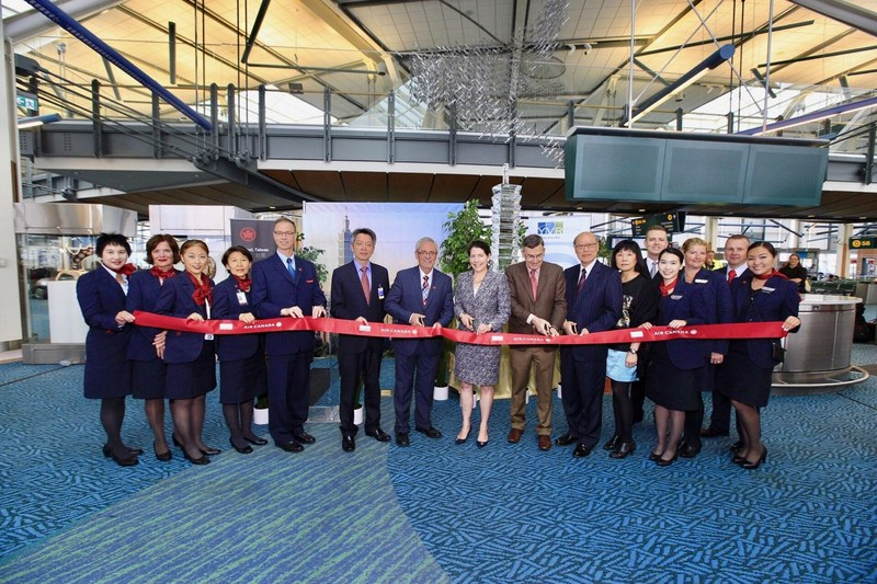 Huan ying deng ji! Air Canada Inaugurates Daily Year-Round Flights from Vancouver to Taipei (CNW Group/Air Canada)