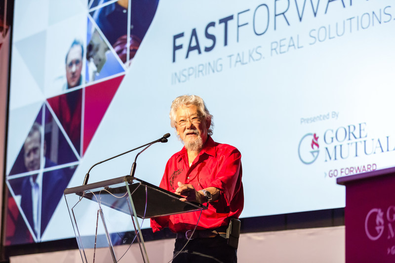David Suzuki discusses how the great human advantage is foresight at Fast Forward on June 6. (CNW Group/Gore Mutual Insurance Company)