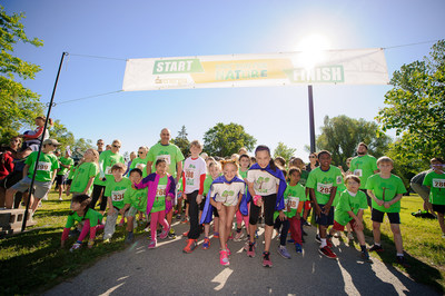 Kids get ready to run for wildlife with Kids' Run for Nature. (c) Gary Bieler (CNW Group/WWF-Canada)