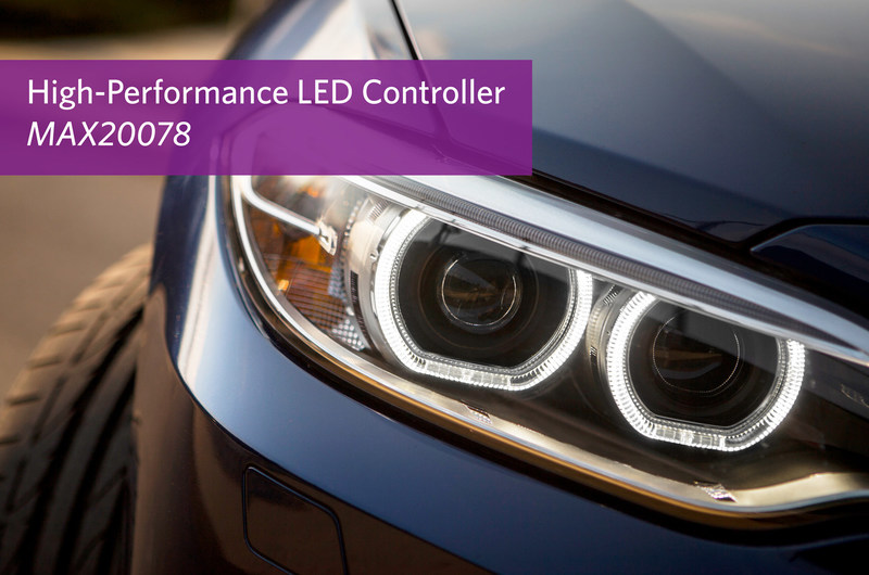 Maxim Integrated's MAX20078 synchronous buck, high-brightness LED controller