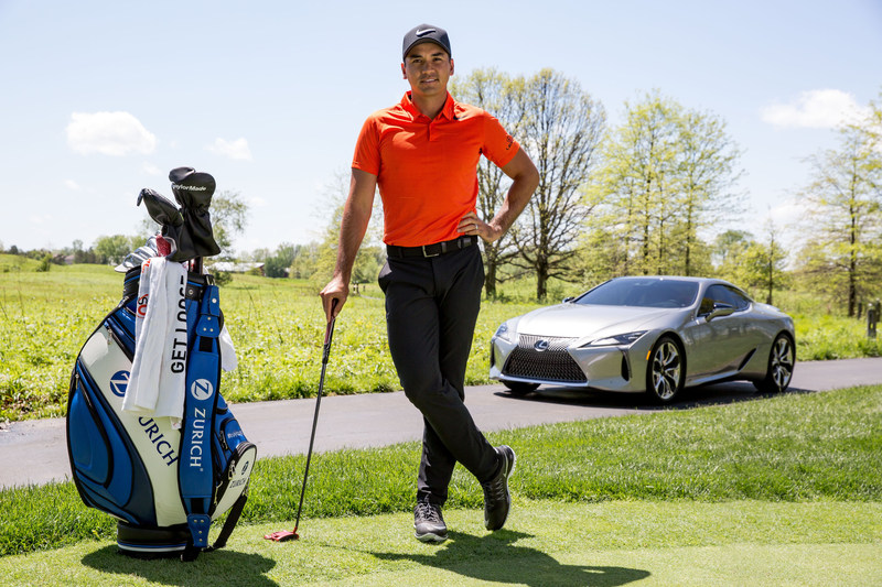 Lexus golf ambassador Jason Day and the first-ever 2018 Lexus LC