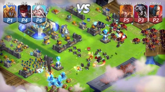 Batallas de múltiples jugadores en tiempo real 3v3 épicas