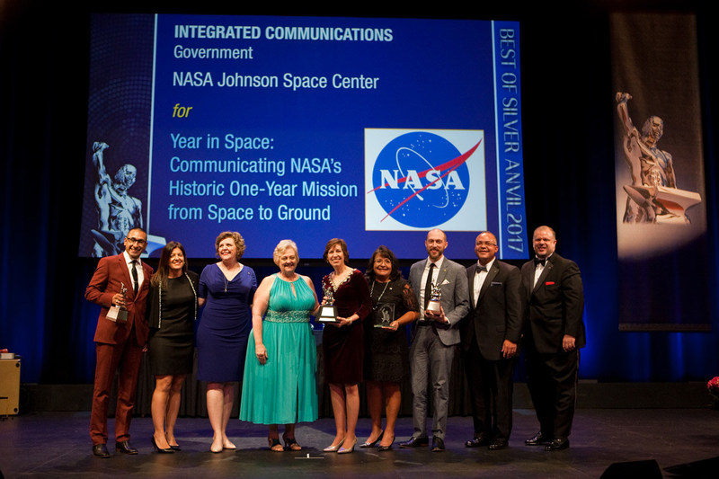 """NASA's """"Year in Space"""" Campaign Wins 'Best of Silver Anvil' Award"""
