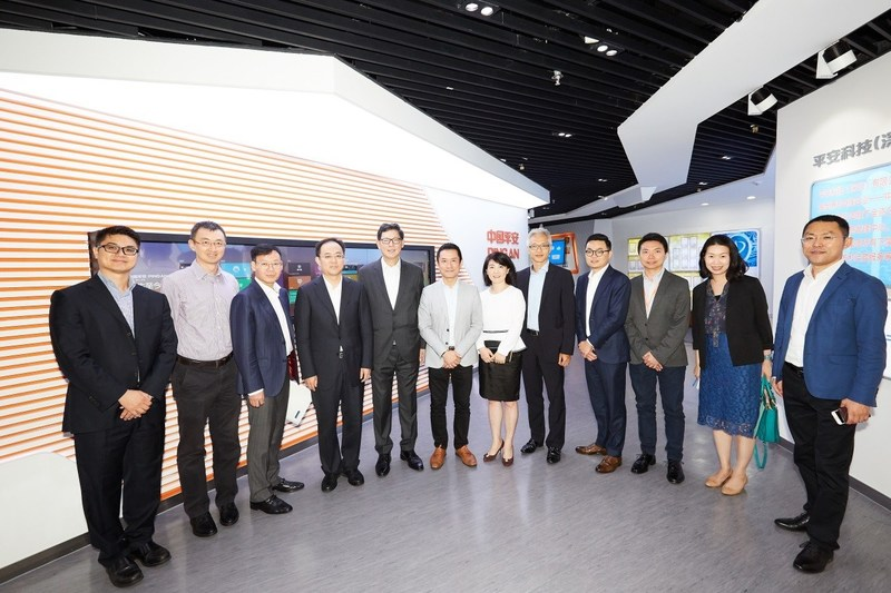 Delegations from the Hong Kong Monetary Authority and the Shenzhen Municipal Government Financial Services Office visit Ping An Technology