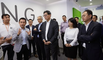 Ping An Technology CEO Chen Liming plays host to visiting guests