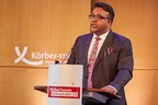 JGU Founding Vice Chancellor Prof. (Dr) C. Raj Kumar speaking at the 2017 Hamburg Transnational University Leaders Council in Hamburg, Germany (PRNewsfoto/O.P. Jindal Global University)