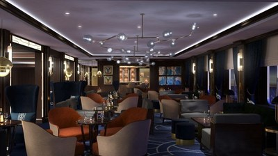 CHART ROOM: A new concept introduced as part of the Queen Victoria refit, the Chart Room is located just off the Grand Lobby and will provide guests with illy coffee, Godiva chocolate treats and light bites by day, before transforming into a luxurious cocktail lounge by night.