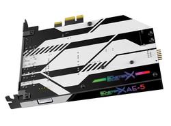 Sound BlasterX AE-5 with RGB Lights Shining Through