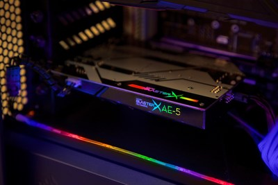 Sound BlasterX AE-5 with Integrated RGB Controller Powers Up LED Strips