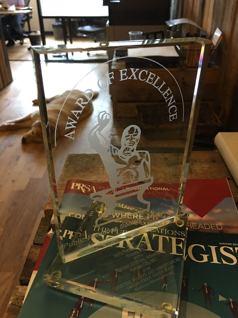 "Germinder & Associates' Silver Anvil Award for the ""Pets Need Dental Care, Too!"" campaign."