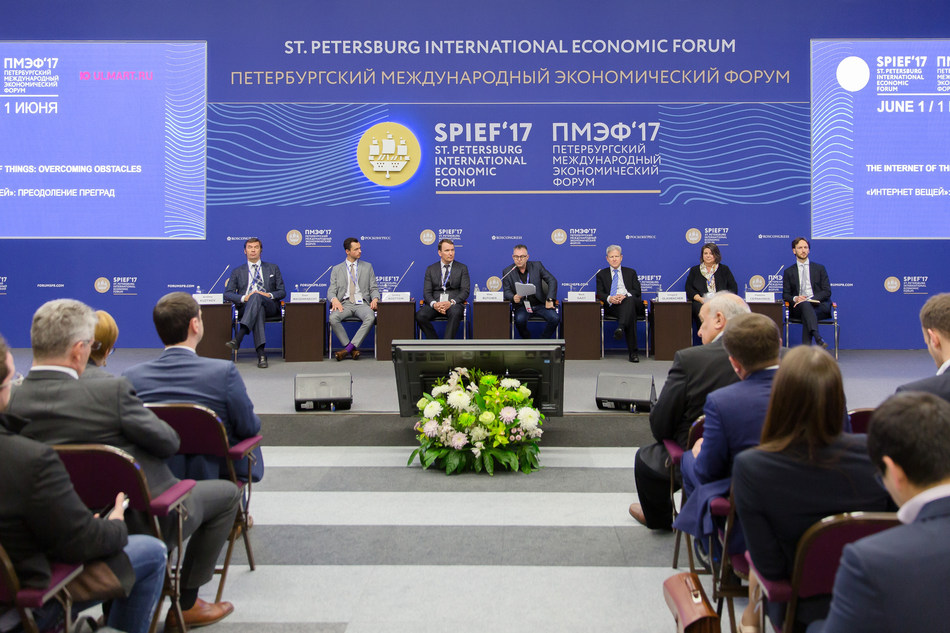 Ulmart Leads Discussion on Benefits and Risks of Internet of Things at SPIEF 2017 (PRNewsfoto/Ulmart)