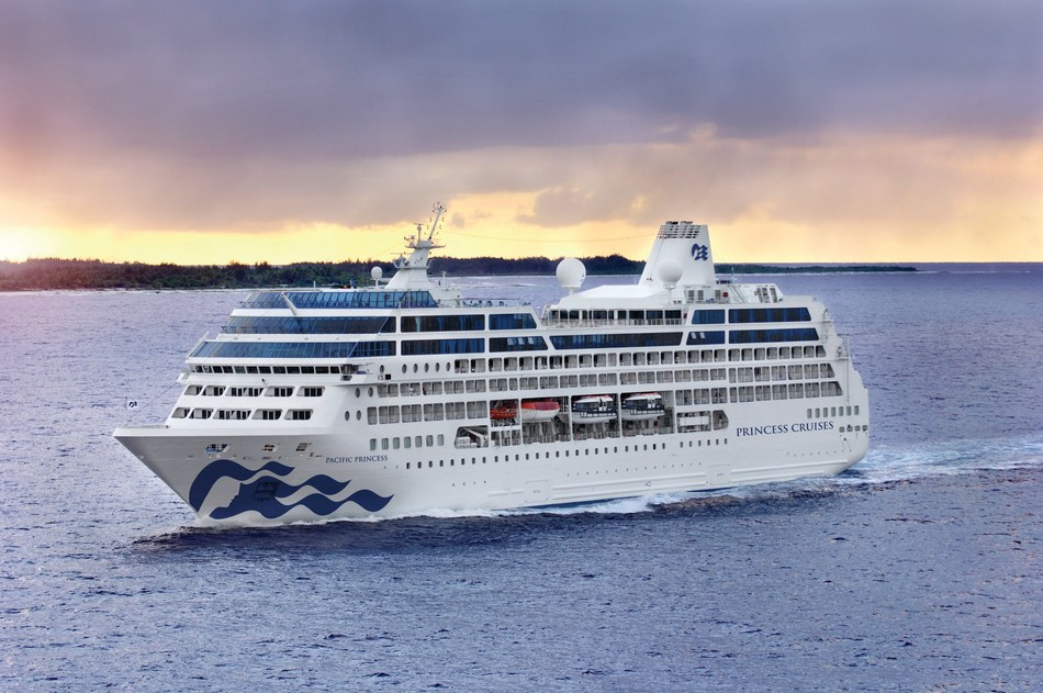 Pacific Princess emerges from drydock