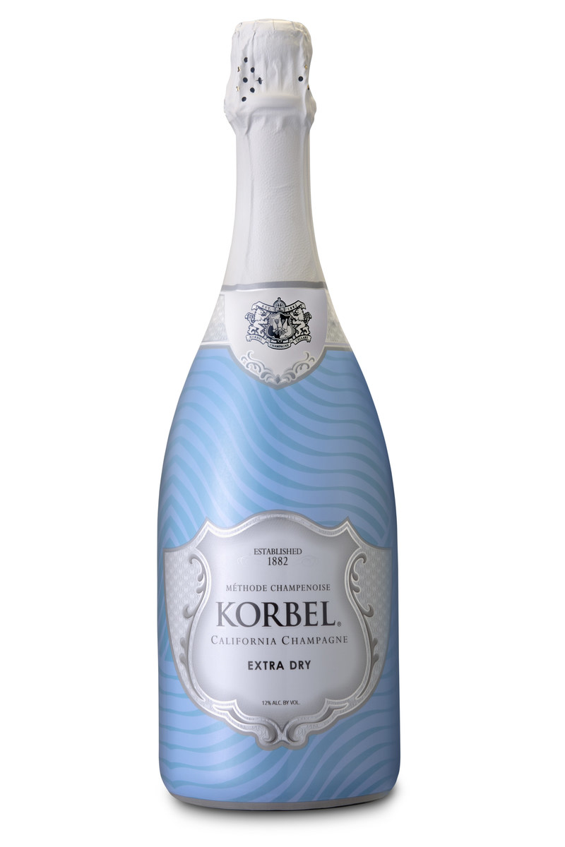 "Korbel California Champagne is celebrating the spirit of summer with the release of its new, limited-edition bottle wrap inspired by the season. Featuring a vibrant design of blue waves and its popular California Extra Dry champagne, the ""Poolside"" bottle wrap is sure to make a splash at any summertime gathering."