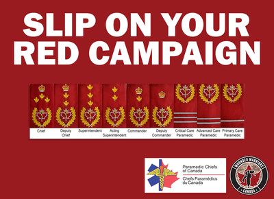 Paramedic Chiefs of Canada Partner With Wounded Warriors Canada to Launch the SLIP ON YOUR RED Campaign (CNW ...