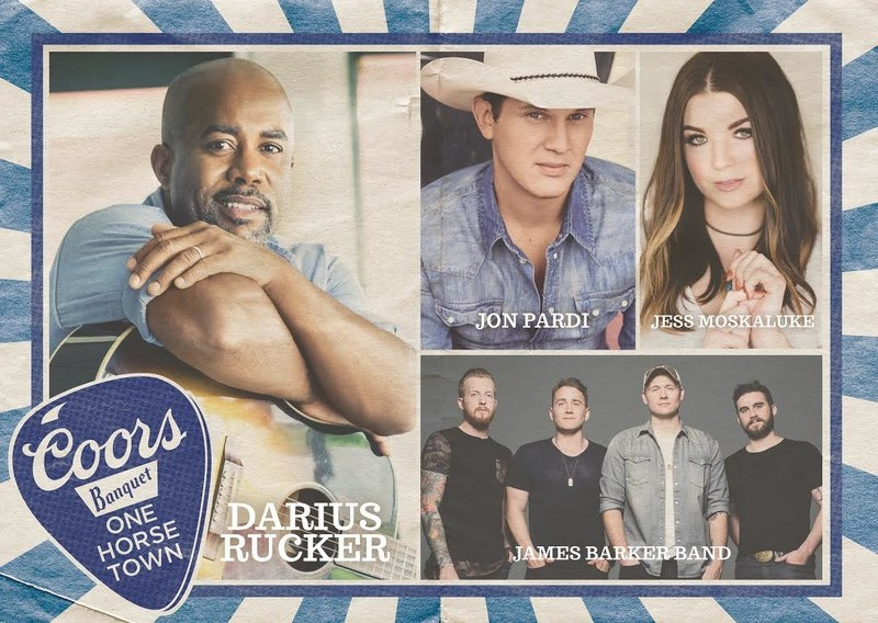Six small towns are primed to compete for a legendary concert featuring Country Music Superstars Darius Rucker, Jon Pardi, Jess Moskaluke and James Barker Band (CNW Group/Molson Coors Canada)