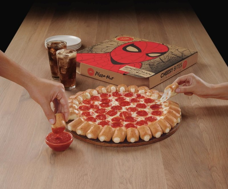 Through July 9, Pizza Hut is officially bringing back an all-time favorite pizza – Cheesy Bites – to menus across the country, in celebration of the Spider-Man: Homecoming premiere, in theaters July 7.