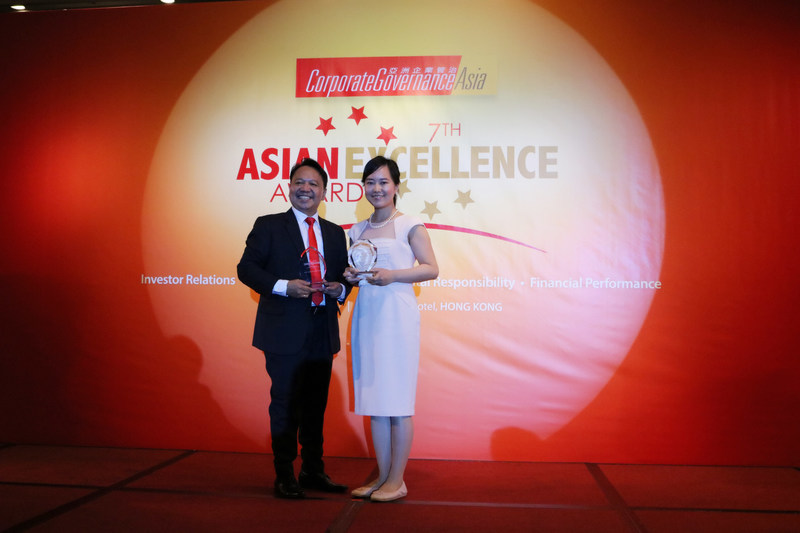 "Ms. Venus Zhao, Head of Investors Relations and Corporate Finance of FEC on behalf of the Group accepted the ""Best Investor Relations Company in Hong Kong"" and ""Best Investor Relations Professional in Hong Kong – Venus Zhao"" Awards in the ""7th Asian Excellence Award 2017"" ceremony."