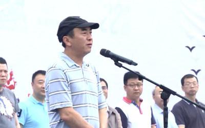 Deyang mayor Zhao Hui announces the inauguration of the event (PRNewsfoto/JingChang TV)