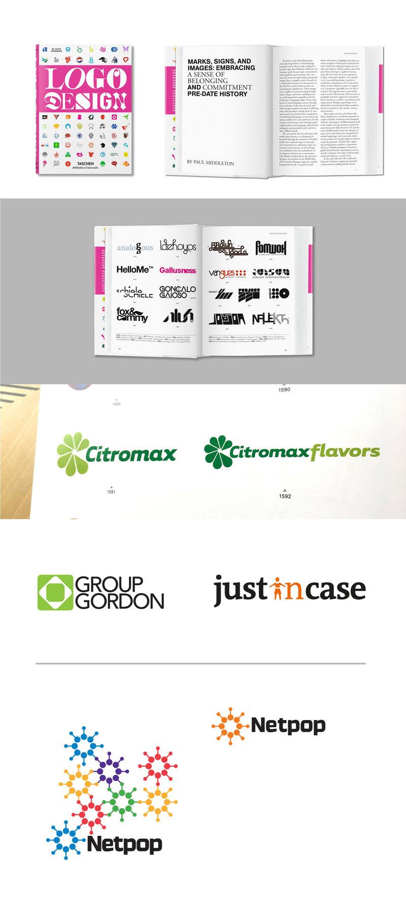 Analogous logos featured in Taschen's Logo Design