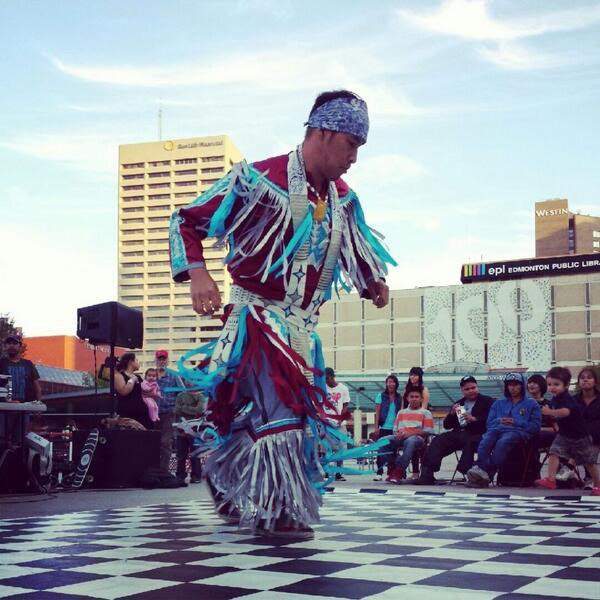 Rhythm of the Nation is an interactive multi-cultural performance that takes a modern look at Canada through music and dance.  This highly original work is centered around nationally renowned First Nations DJ, Matthew Wood (AKA Creeasian) remixing the sounds of instruments from various cultures. (CNW Group/Water's Edge Festivals & Events)