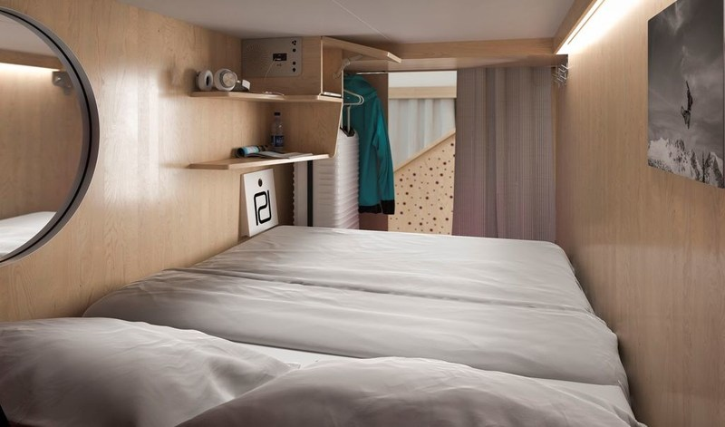 Pangea Pod, looking out into suite. (CNW Group/Pangea Pod Hotel)