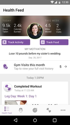 Set goals and track your progress with the new Anytime Fitness mobile app.